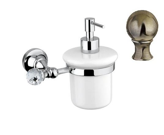 Дозатор для мыла подвесной бронза, металл Cezares Olimp OLIMP-SOI-02-M дозатор для жидкого мыла cezares olimp olimp soi 02 m