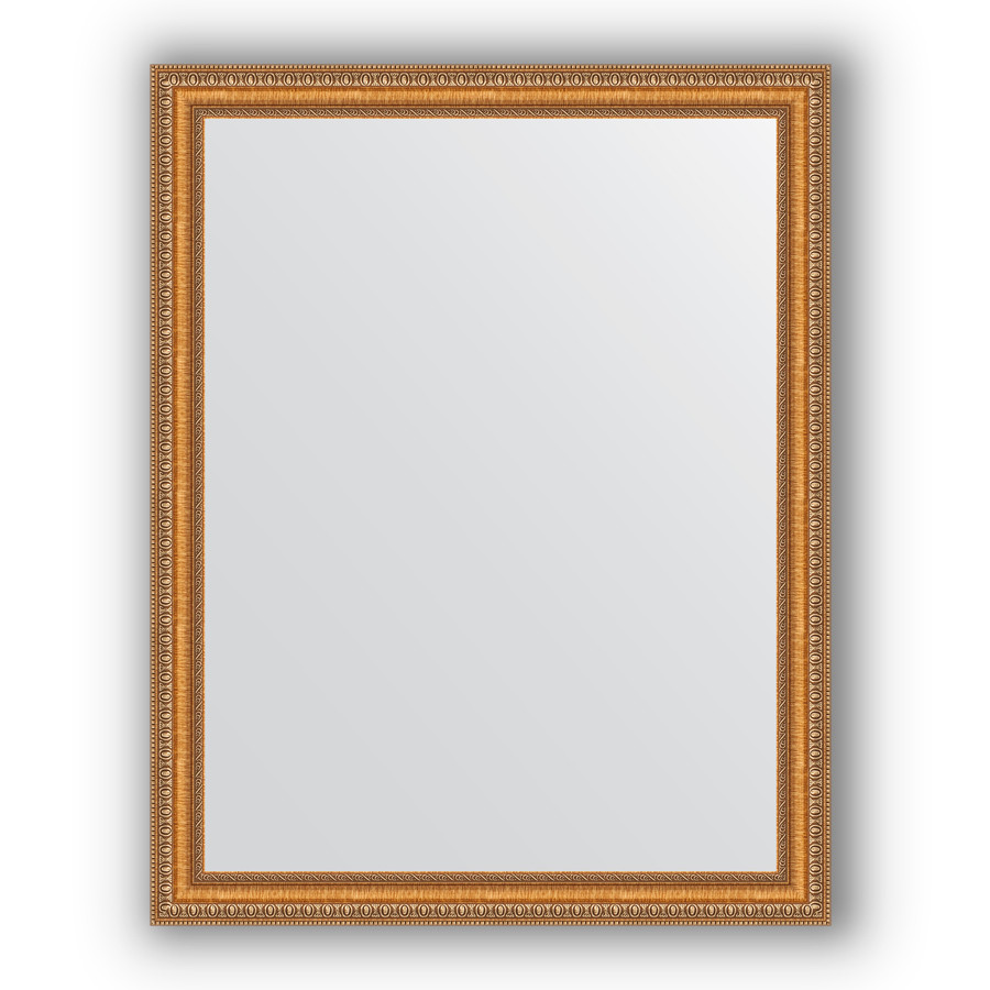 Зеркало 75х95 см золотые бусы на бронзе Evoform Definite BY 3266 зеркало evoform definite 155х75 золотые бусы на бронзе
