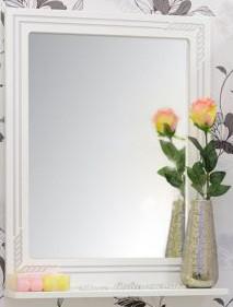 Зеркало 57,1х75,1 см белый серебряная патина Sanflor Элен C0000001857