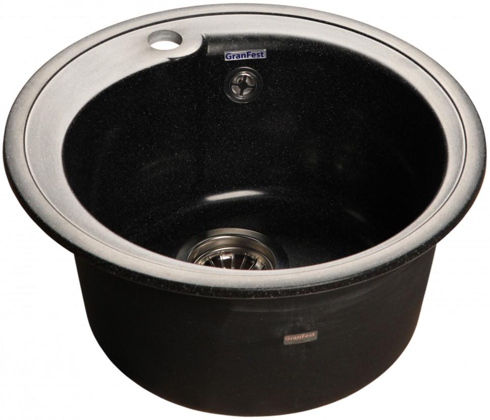 Кухонная мойка черный GranFest Rondo GF-R450 кухонная мойка черный granfest rondo gf r750l