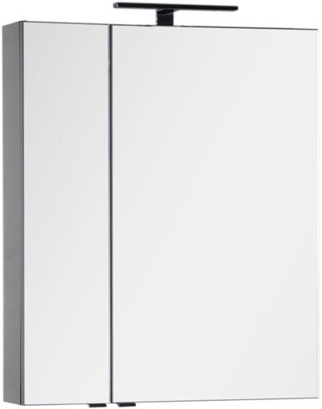 Зеркальный шкаф 69,8х85 см серый антрацит Aquanet Эвора 00184025