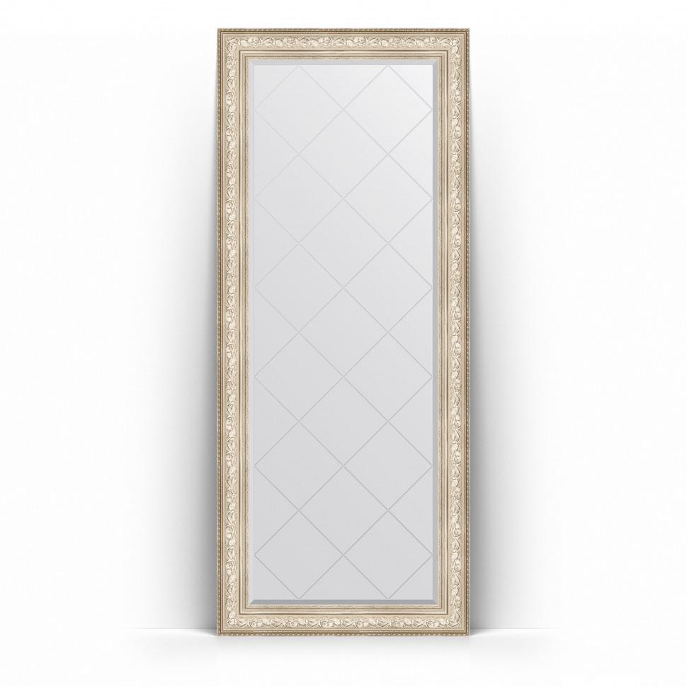 Фото - Зеркало напольное 85х205 см виньетка серебро Evoform Exclusive-G Floor BY 6336 зеркало напольное с фацетом evoform exclusive floor 115x205 см в багетной раме виньетка серебро 109 мм by 6176