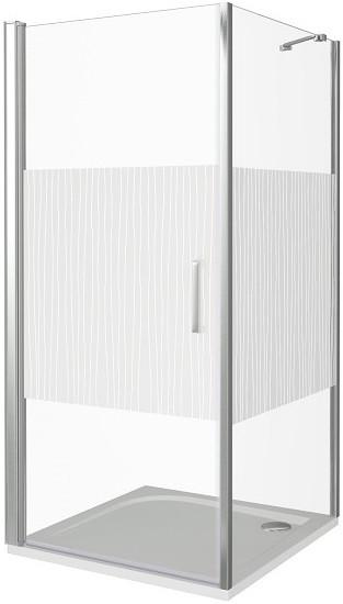 Душевой уголок 100х100 см Good Door Pandora CR-100-T-CH прозрачное с рисунком душевой уголок good door pandora cr 90 t ch без поддона