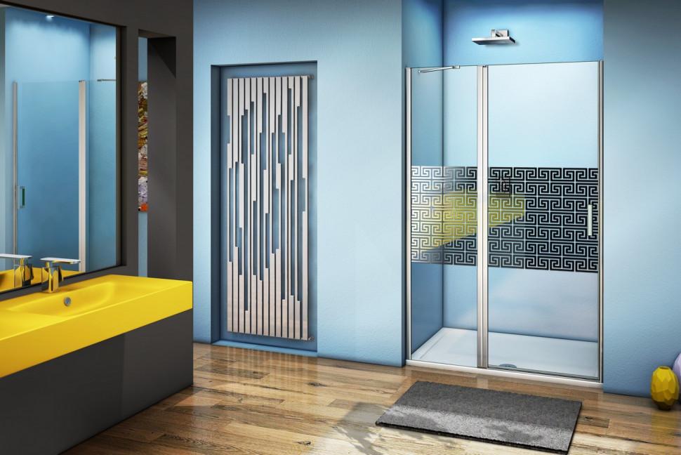 Душевая дверь 120 см Good Door Fantasy WTW-120-F-CH прозрачный с рисунком
