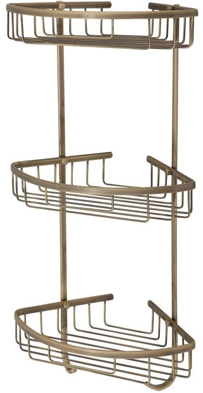 Полка угловая 21х21 см Veragio Baskets Bronzo VR.GFT-9067.BR полка угловая 22х22 см veragio baskets bronzo vr gft 9055 br