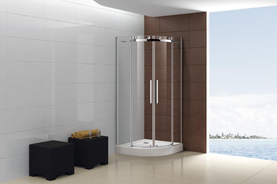 Душевой уголок Cezares Stylus-M 100x100 см прозрачное стекло STYLUS-O-M-R-2-100-C-Cr
