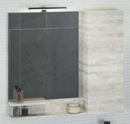 Зеркальный шкаф 90х80 см дуб белый Comforty Верона 00004136714 зеркальный шкаф comforty кёльн 88 дуб темный 00004147987