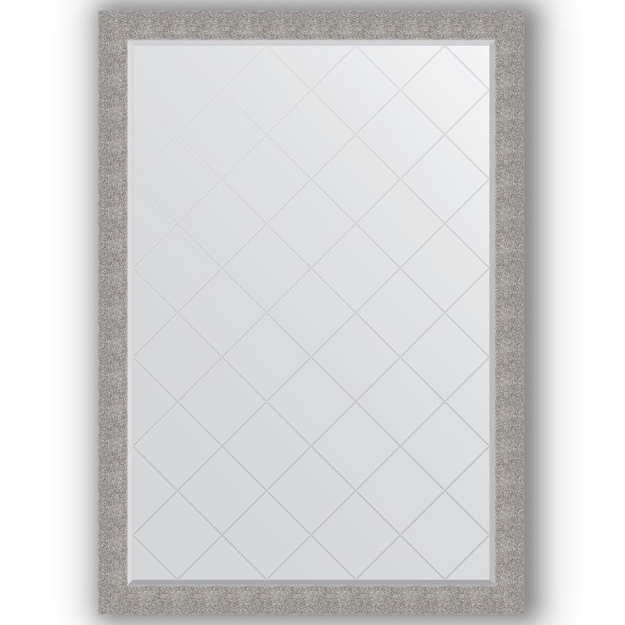 Зеркало 131х186 см чеканка серебряная Evoform Exclusive-G BY 4496