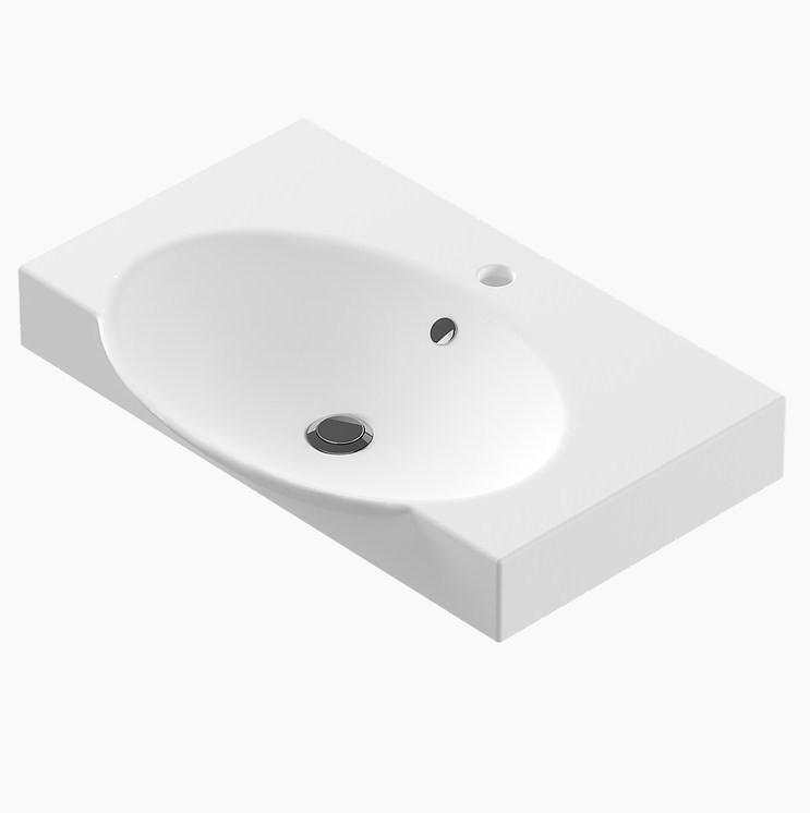 Раковина 65 см Sanita Luxe Infinity на кронштейнах SL401401 цена 2017