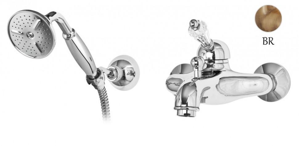 Смеситель для ванны бронза, ручка Swarovski Cezares Vintage VINTAGE-VDM-02-Sw