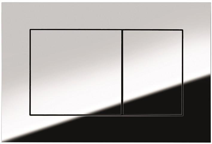 Смывная клавиша Tece TECEnow глянцевый хром 9240401 смывная клавиша tece tecenow черный 9240403