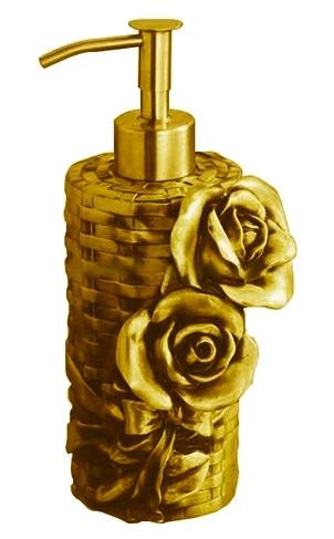 Дозатор жидкого мыла настольный золото Art&Max Rose
