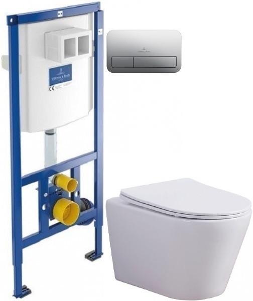 Комплект подвесной унитаз Esbano Clavel W + система инсталляции Villeroy & Boch 92246100 + 92249061 фото