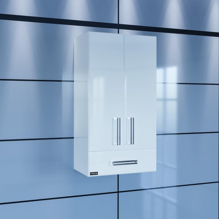 Шкаф подвесной белый глянец Санта Меркурий 409002 фото